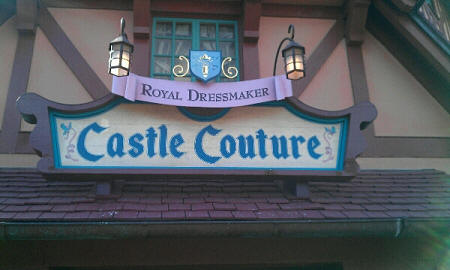 A Closer Look at the Magic Kingdom shop, Castle Couture