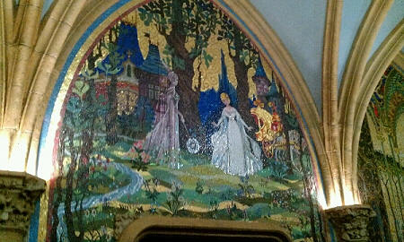 The Mural inside Cinderella Castle