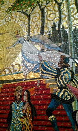 The Mosaic inside Cinderella Castle