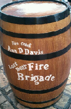 Closer Look at the Lost Boys Fire Brigade Barrel