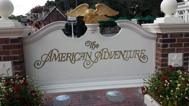The American Adventure sign