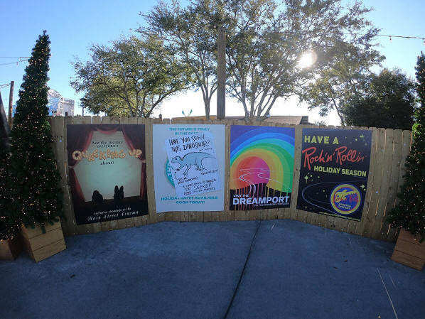 Disney Springs Christmas Tree Trail advertisements