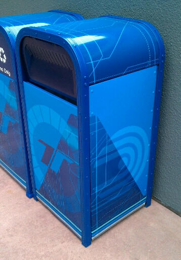 New Test Track trash cans