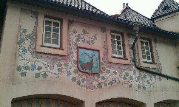 Painting of a deer in Fantasyland
