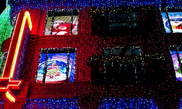 Osbourne Family Spectacle of Dancing Lights window