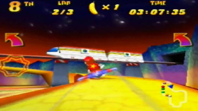 Diddy Kong Racing monorail