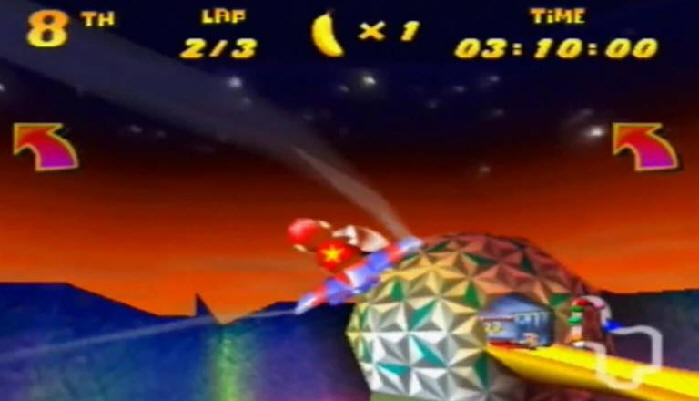 Diddy Kong Racing Spaceship Earth