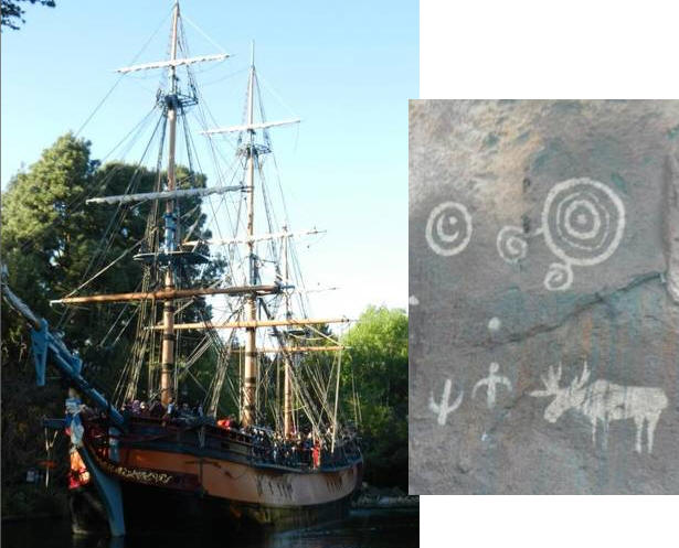 Hidden Mickey on Rivers of America