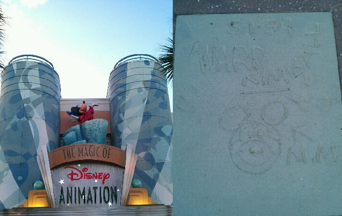Hidden Mickey at Magic of Disney Animation