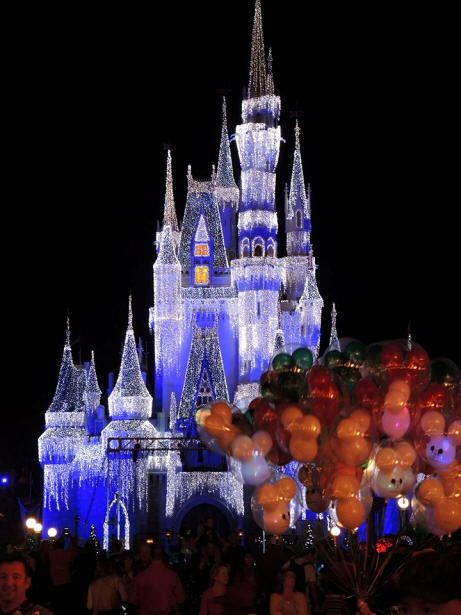 Cinderella Castle with Holdiday Lights