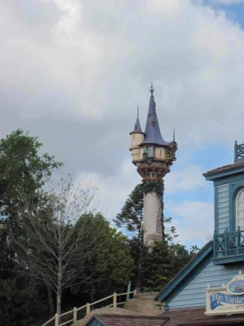 Rapunzel Tower in Magic Kingdom