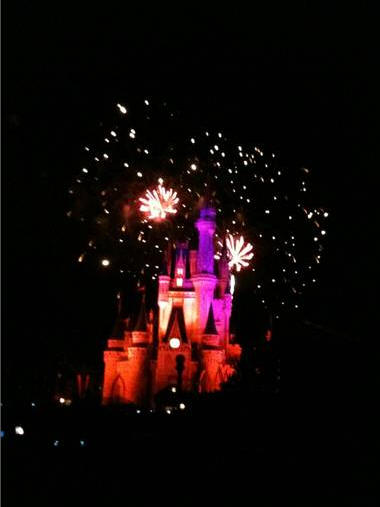 Wishes over Cinderella Castle