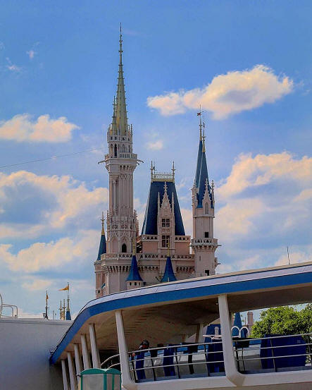 Cinderella Castle and Peoplemover
