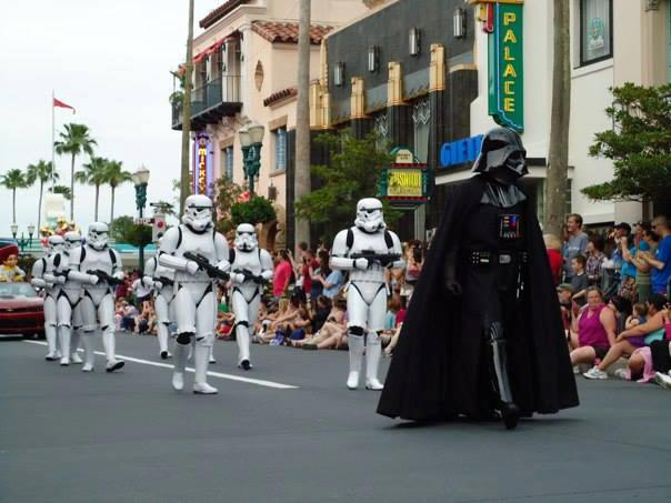 Darth Vadar and Stormtroopers