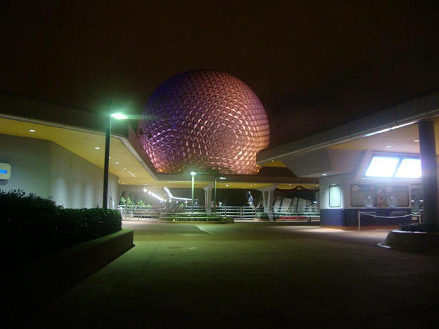 Spaceship Earth at night