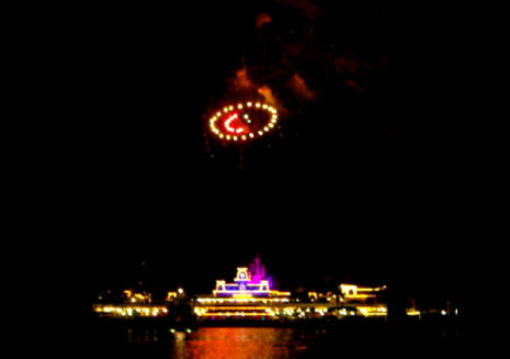 Pirates and Princess party fireworks