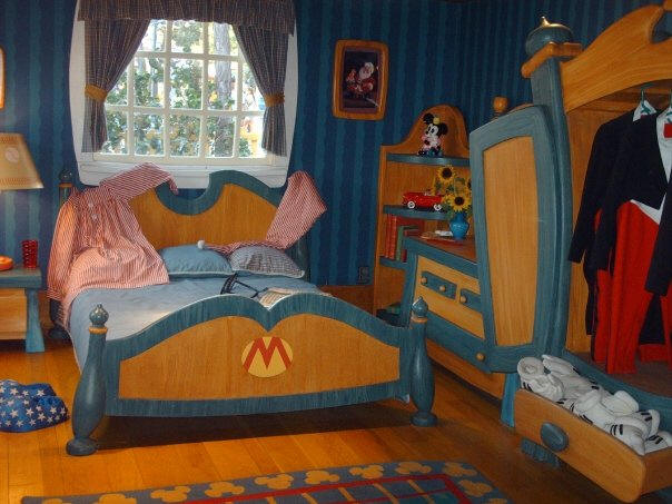 Mickey Mouse's bedroom