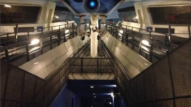 Space Mountain with lights on