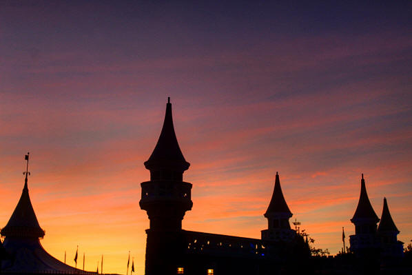 Fantasyland sunset