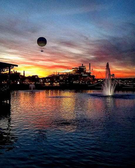 Disney Springs sunset