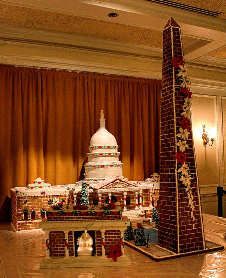 Amercian Adventure Gingerbread display