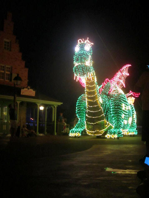 Picture of the Day Elliot the Dragon Main Street Electrical Parade