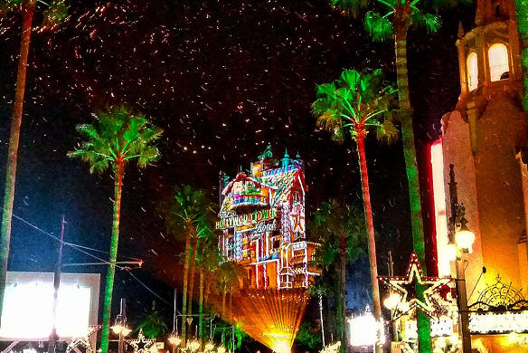 Tower of Terror Holiday Lights