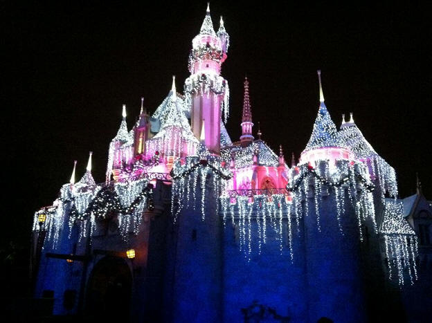 Picture of the Day Sleeping Beauty Castle Christmas Lights