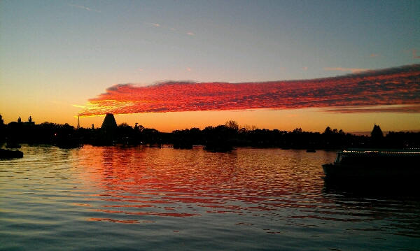 Sunset on World Showcase