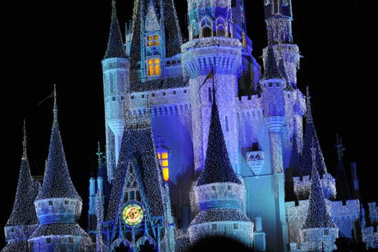 Picture of the Day Cinderella Castle Christmas Lights
