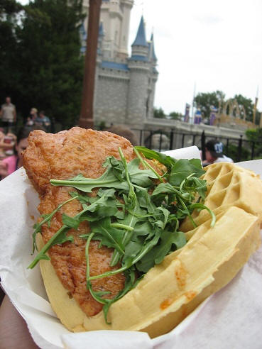 Sweet and Spcy Chicken Sandwich Waffle Disney