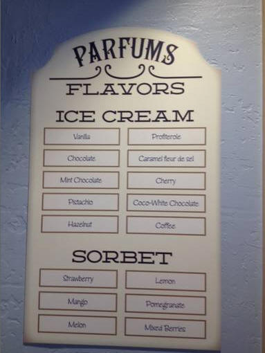 France Pavilion Ice Cream Flavors