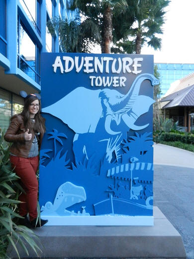 Adventure Tower Disneyland Hotel