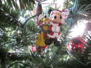 Mickey and Pluto Ornament