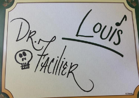 Dr. Facilier and Louis autograph