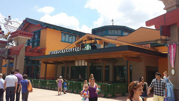 Starbucks in Downtown Disney