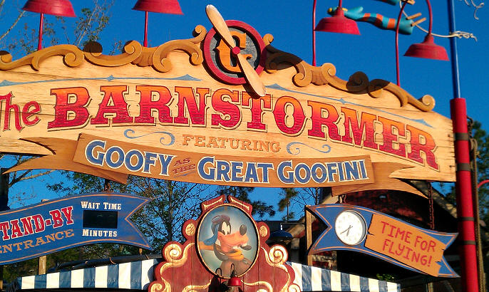 Image result for the barnstormer at goofy's wiseacre farm